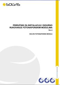 Priručnik za instalaciju i sigurno rukovanje fotonaponskim modulima