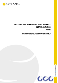 SOLVIS PV module installation and handling manual